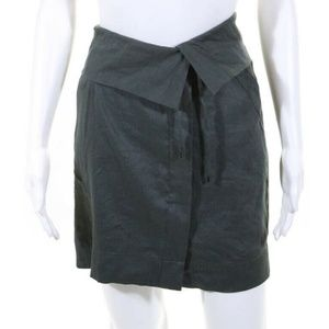 NWT Vince Green Tie Waist Mini Skirt Size 14